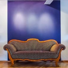 Neubezug von einem Biedermeier-Sofa