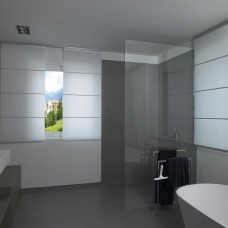 Panel Shade in bathroom