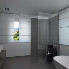 Panel Shade in bathroom