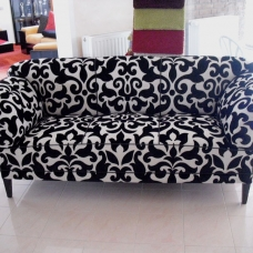 Sofa Neubezug black&white
